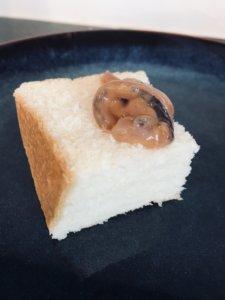 食パンといかの塩辛